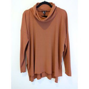 Forever 21 Cowl Neck Long Sleeves Top